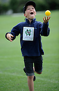 Cricket fan having a good time with the ball, at the National Bank's Cricket Super Camp , University oval, Dunedin, New Zealand. Thursday 2 February 2012 . Photo: Richard Hood photosport.co.nz
