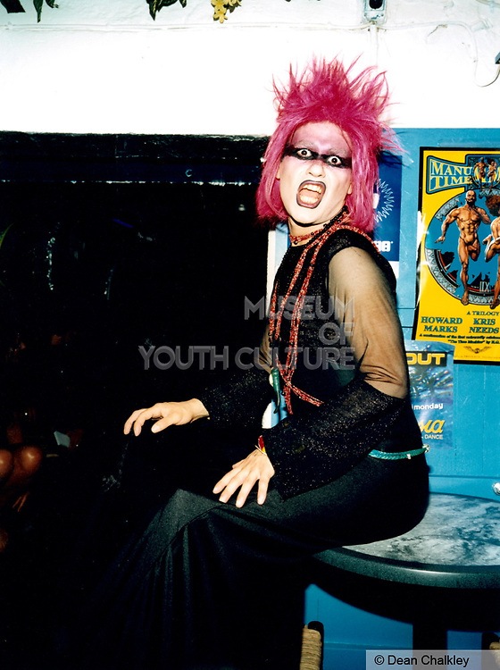 Woman with pink dyed hair, Cream, Ibiza 1999