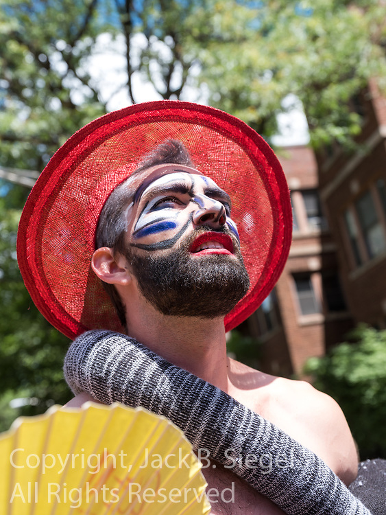 The 2017 Gay Pride Parade Parade starting at Montrose and Broadway and ending at Sheridan and Diversey