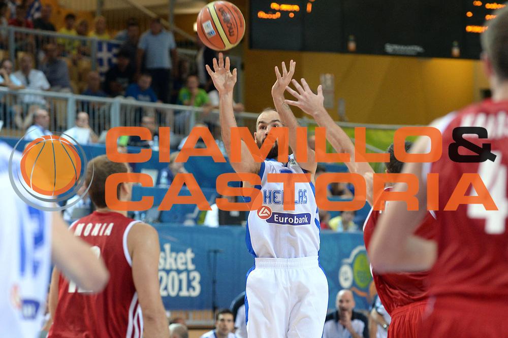 DESCRIZIONE : Capodistria Koper Slovenia Eurobasket Men 2013 Preliminary Round Russia Grecia Russia Greece<br /> GIOCATORE : Vassilis Spanoulis <br /> CATEGORIA : Tiro<br /> SQUADRA : Grecia<br /> EVENTO : Eurobasket Men 2013<br /> GARA : Russia Grecia Russia Greece<br /> DATA : 05/09/2013<br /> SPORT : Pallacanestro&nbsp;<br /> AUTORE : Agenzia Ciamillo-Castoria/Max.Ceretti<br /> Galleria : Eurobasket Men 2013 <br /> Fotonotizia : Capodistria Koper Slovenia Eurobasket Men 2013 Preliminary Round Russia Grecia Russia Greece<br /> Predefinita :