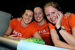 23-08-2009 VOLLEYBAL: WGP FINALS JAPAN - BRAZILIE: TOKYO <br /> Brazilie wint met 3-1 van Japan en zijn de winnaar van de Grand Prix 2009 / Monique Wismeijer, Janneke van Tienen en Alice Blom<br /> ©2009-WWW.FOTOHOOGENDOORN.NL