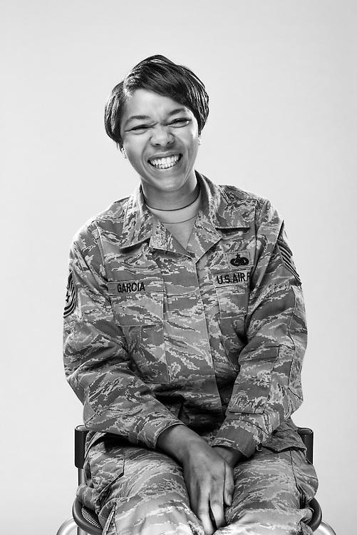 Kishima Garcia<br /> Air Force <br /> E-6<br /> Material Management<br /> Manas, Kyrgyzstan<br /> 2004 - 2014<br /> <br /> Veterans Portrait Project<br /> El Paso, TX