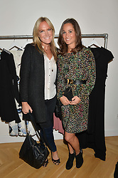 Left to right, CHRISSIE REEVES and PIPPA MIDDLETON at a party to celebrate the opening of the first Tabitha Webb Retail Store at 45 Elizabeth Street, London on 23rd September 2014.