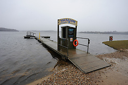 © Licensed to London News Pictures. TODAY PICTURE 05/04/2013. Picture 2 of 2 (Comparison pictures taken a year apart) Bewl Water Reservoir in Kent was under drought conditions a year ago. Today (05/04/2013) it is 100% full due to the heavy rain and snow of the last few months. .Photo credit : Grant Falvey/LNP