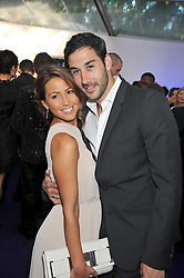 RACHEL STEVENS and ALEX BOURNE at the 2009 Glamour Magazine Awards held in Berkeley Square, London on 2nd June 2009.