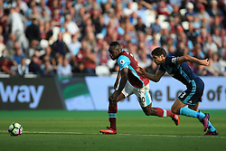 Michail Antonio of West Ham United on the attack followed by George Friend of Middlesbrough - Mandatory by-line: Jason Brown/JMP - 01/10/2016 - FOOTBALL - London Stadium - London, England - West Ham United v Middlesbrough - Premier League