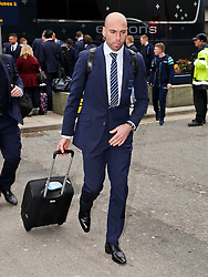 Manchester City's Willy Caballero arrives at Manchester Airport to board the team flight to Barcelona ahead of the UEFA Champions League second leg match against Barcelona - Photo mandatory by-line: Matt McNulty/JMP - Mobile: 07966 386802 - 17/03/2015 - SPORT - Football - Manchester - Manchester Airport - Barcelona v Manchester City - UEFA Champions League