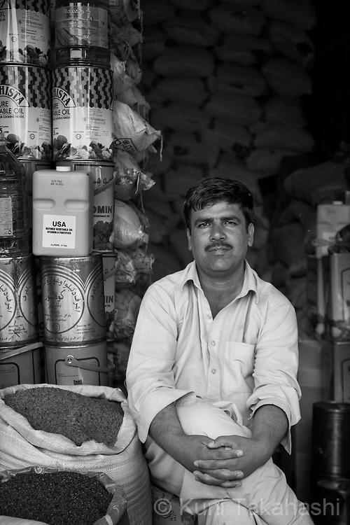 Mohannad Farhad, 38, food shop owner, in Kabul, Afghanistan on Aug 14, 2011.(Photo by Kuni Takahashi)