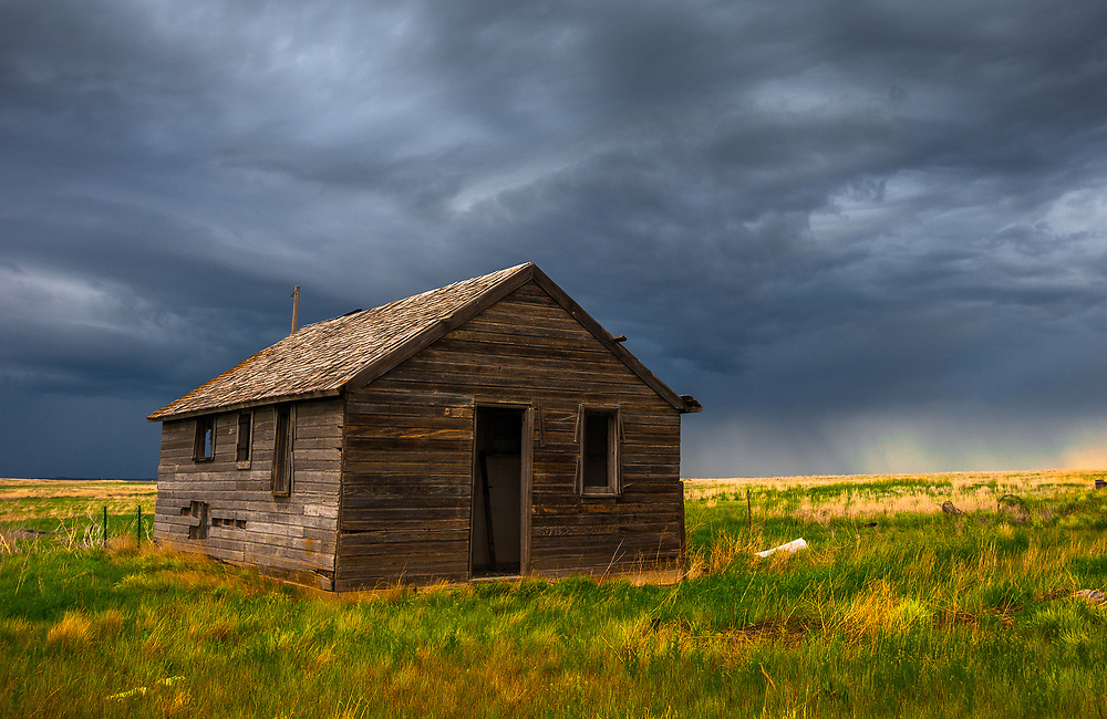 I took this picture near the Pawnee National Grassland in Colorado. It shows a nearby afternoon storm rolling in.<br />