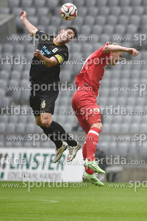 03.05.2015, Allianz Arena, Muenchen, GER, 2. FBL, TSV 1860 Muenchen vs 1. FC Union Berlin, 31. Runde, im Bild Christopher Schindler (TSV 1860 M&uuml;nchen), Sebastian Polter (1. FC Union Berlin), v.li. Aktion, // during the 2nd German Bundesliga 31th round match between TSV 1860 Muenchen and 1. FC Union Berlin at the Allianz Arena in Muenchen, Germany on 2015/05/03. EXPA Pictures &copy; 2015, PhotoCredit: EXPA/ Eibner-Pressefoto/ Buthmann<br /> <br /> *****ATTENTION - OUT of GER*****