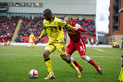 LONDON, ENGLAND - Saturday, February 9, 2013: Tranmere Rovers' David Amoo in action against Leyton Orient during the Football League One match at Brisbane Road. (Pic by David Rawcliffe/Propaganda)