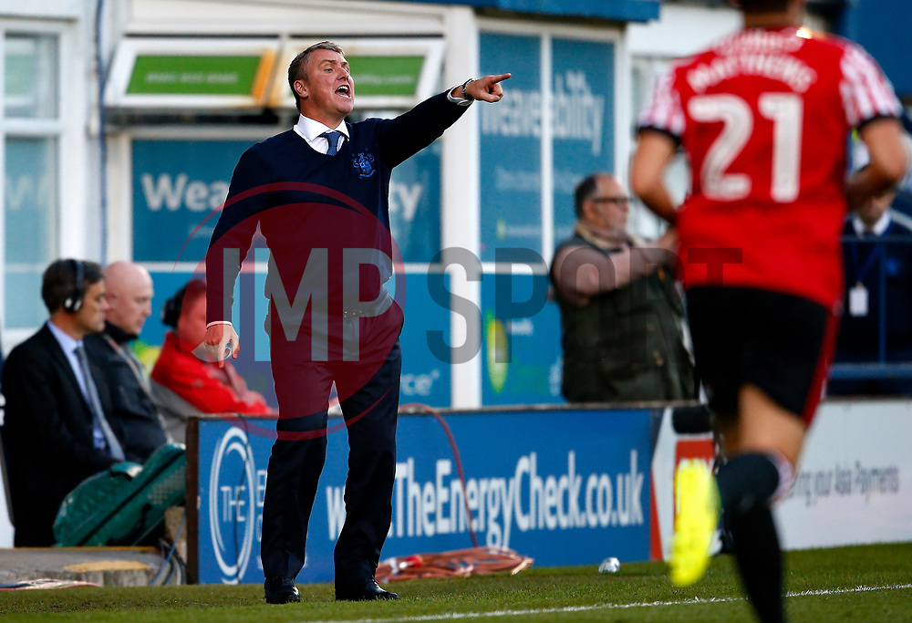Bury manager Lee Clark shouts to his players - Mandatory by-line: Matt McNulty/JMP - 10/08/2017 - FOOTBALL - Gigg Lane - Bury, England - Bury v Sunderland - Carabao Cup - First Round