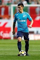 MOSCOW, RUSSIA - MAY 05: Matias Kranevitter of FC Zenit Saint Petersburg in action during the Russian Football League match between FC Lokomotiv Moscow and FC Zenit Saint Petersburg at RZD Arena on May 5, 2018 in Moscow, Russia.