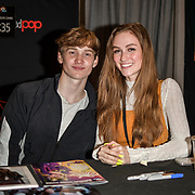Matt Lintz and Madison Lintz is an actors singing at MCM Comic Con London on May 24, 2019. Credit: Picture Capital