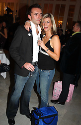 MR ANDY HIPKISS and presenter CAROLINE FARADAY  at the Pink Ribbon Party - A night of Fashion and Music in aid of 3 cancer charities, Breast Cancer Haven, Cancer Resource Centre and Positive Action on Cancer, held at the Waldorf Hilton Hotel, Aldwych, London on 19th October 2004. <br /><br />MINIMUM REPRODUCTION FEE - SEE OUR WEB SITE<br /><br />NON EXCLUSIVE - WORLD RIGHTS-