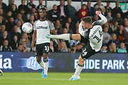 Derby County forward Jack Marriott (14) shoots at goal during the EFL Sky Bet Championship match between Derby County and Bristol City at the Pride Park, Derby, England on 20 August 2019.