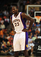 Nov. 5 2010; Phoenix, AZ, USA; Phoenix Suns guard Jason Richardson (23)  reacts on the court against the Memphis Grizzlies at the US Airways Center. The Suns defeated the Memphis Grizzlies in double over time 123 - 118.  Mandatory Credit: Jennifer Stewart-US PRESSWIRE..