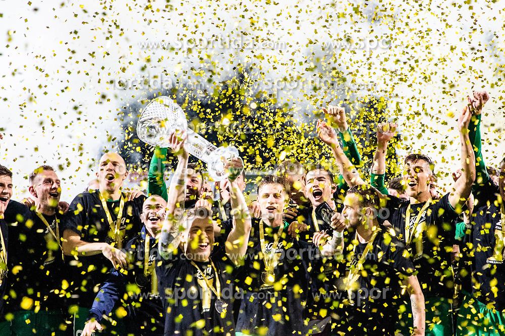 NK Olimpija  celebrate after a football game between NK Olimpija Ljubljana and NK Maribor in Final Round (18/19)  of Pokal Slovenije 2018/19, on 30th of May, 2014 in Arena Z'dezele, Ljubljana, Slovenia. Photo by Matic Ritonja / Sportida