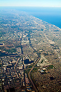 Aerial View, Ft. Lauderdale, Port Everglades Florida,