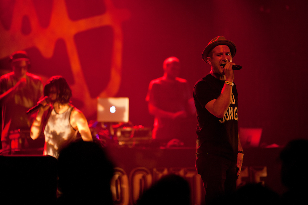 Minneapolis hip hop collective Doomtree performs at The Englert Theater in Iowa City, Iowa on Friday, November 6, 2015 during the first day of the Witching Hour Festival. Events on the first day of the festival included an astrophysics lecture, a panel discussion about ethnicity and art, and magic by Iowa's Nate Staniforth.