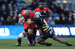 Oyonnax's Irakli Mirtskhulava during the European Rugby Challenge Cup, Pool Five match at Sixways Stadium, Worcester.