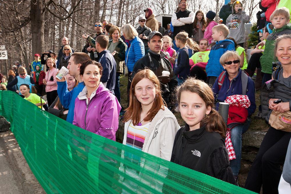 2013 Boston Marathon: spectators line course at start