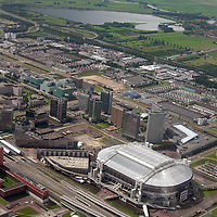 EN&gt; The Ajax Arena in Amsterdam, with the Oudekerk lagoon in the background. |<br />