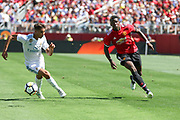 Manchester United Midfielder Paul Pogba battles for the ball during the AON Tour 2017 match between Real Madrid and Manchester United at the Levi's Stadium, Santa Clara, USA on 23 July 2017.