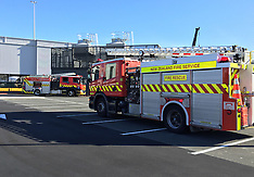 Auckland-Fires services respond to fire in International Terminal construction