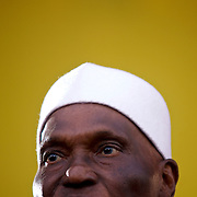 February 22, 2012 - Dakar, Senegal: Senegalese president Abdoulaye Wade addresses a crowd of towsands during a campaign rally in Pykine, a suburb of the capital Dakar, ahead of the presidential elections on the 26th of February.