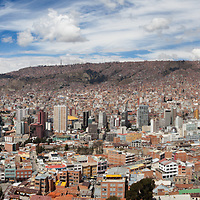 A long high resolution panoramic image of La Paz, Bolivia.