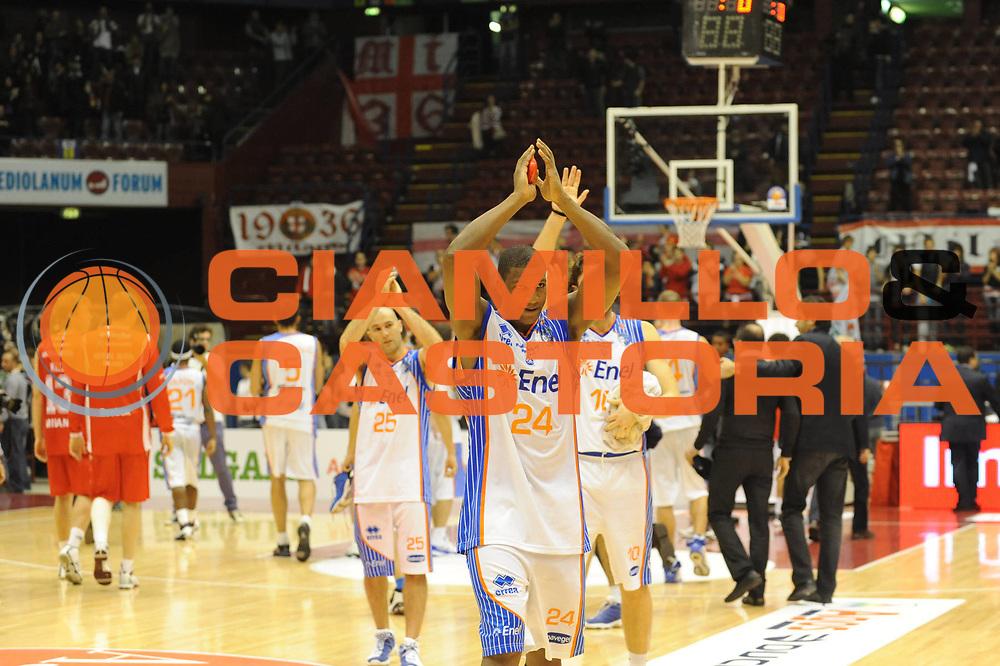 DESCRIZIONE : Milano Lega A 2010-11 Armani Jeans Milano Enel Brindisi<br /> GIOCATORE : Yakhouba Diawara team Brindisi<br /> SQUADRA : Enel Brindisi<br /> EVENTO : Campionato Lega A 2010-2011 <br /> GARA : Armani Jeans Milano Enel Brindisi<br /> DATA : 07/11/2010<br /> CATEGORIA : Esultanza<br /> SPORT : Pallacanestro <br /> AUTORE : Agenzia Ciamillo-Castoria/ L.Goria<br /> Galleria : Lega Basket A 2010-2011  <br /> Fotonotizia : Milano Lega A 2010-11 Armani Jeans Milano Enel Brindisi<br /> Predefinita :