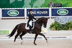 Anna Kasprzak, (DEN), Donnperignon - Grand Prix Team Competition Dressage - Alltech FEI World Equestrian Games™ 2014 - Normandy, France.<br /> © Hippo Foto Team - Leanjo de Koster<br /> 25/06/14