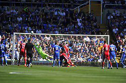 BIRMINGHAMS GOALKEEPER TOMASZ KUSZCZAK MAKES A GREAT SAVE FROM CARDIFFS ATTACK, Birmingham City v Cardiff City Sky Bet Championship  6th August 2016 <br /> Photo: Mike Capps