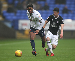 Mark Little of Bolton Wanderers (L) and Lucas Piazon of Fulham in action - Mandatory by-line: Jack Phillips/JMP - 10/02/2018 - FOOTBALL - Macron Stadium - Bolton, England - Bolton Wanderers v Fulham - English Football League Championship
