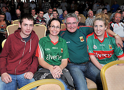 Ann Marie Kenny from Cross Co Mayo with family pictured at the Newstalk Off the Ball Roadshow in association with Liberty Insurance live from the Knockranny House Hotel Westport, on thursday last.<br /> Pic Conor McKeown