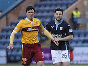 Motherwell's John Sutton and Dundee's Kostadin Gadzhalov -  Dundee v Motherwell, SPFL Premiership at Dens Park <br /> <br /> <br />  - &copy; David Young - www.davidyoungphoto.co.uk - email: davidyoungphoto@gmail.com