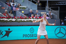 May 12, 2018 - Madrid, Madrid, Spain - PETRA KVITOVA in a match against KIKI BERTENS during the final of Mutua Madrid Open 2018 - WTA in Madrid. (Credit Image: © Patricia Rodrigues via ZUMA Wire)