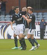 Paul McGinn congratulates Simon Ferry on his opener - Dundee v Peterhead, League Cup at Dens Park<br /> <br />  - &copy; David Young - www.davidyoungphoto.co.uk - email: davidyoungphoto@gmail.com