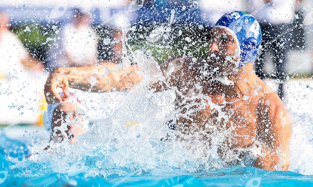 4 FIGLIOLI Pietro ITA<br /> Croatia CRO (white) - Italy ITA (blue)<br /> day 04 - 26/06/2015<br /> FINA Water Polo World League Superfinal Men<br /> Bergamo (ITA) 23-28 June 2015<br /> Photo G.Scala/Deepbluemedia