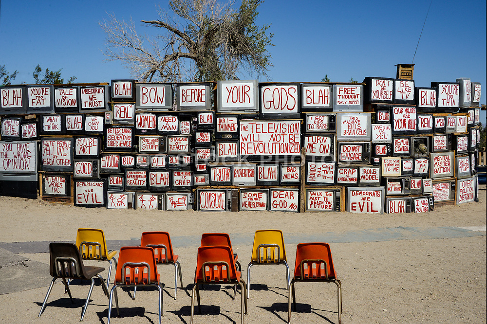 Television Wall Slab City California