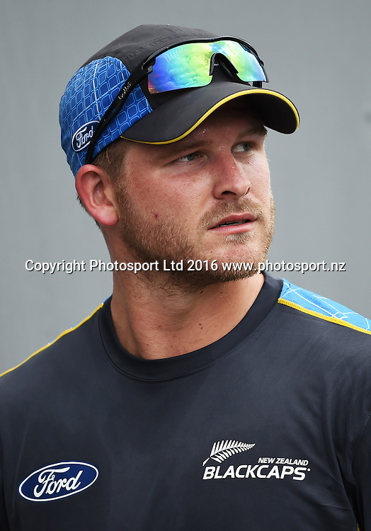 Corey Anderson at the Twenty20 match between New Zealand Black Caps and Pakistan at Eden Park in Auckland, New Zealand. Friday 15 January 2016. Copyright photo: Andrew Cornaga / www.photosport.nz