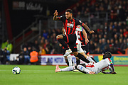 Joshua King (17) of AFC Bournemouth avaids a tackle from Mamadou Sakho (12) of Crystal Palace during the Premier League match between Bournemouth and Crystal Palace at the Vitality Stadium, Bournemouth, England on 1 October 2018.