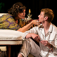 Sweet Bird of Youth by Tennessee Williams;<br /> Directed by Jonathan Kent;<br /> Marcia Gay Harden as The Princess Kosmonopolis aka Alexandra del Lago;<br /> Brian J. Smith as Chance Wayne;<br /> Chichester Festival Theatre, Chichester, UK;<br /> 7 June 2017.<br /><br />© Pete Jones<br />pete@pjproductions.co.uk