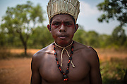 Xerente tribesmen  in the village of Tocantinia, Brazil, Thursday, 59, 2015. (Hilaea Media/ Dado Galdieri)