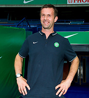 05/08/14  <br /> BT MURRAYFIELD STADIUM - EDINBURGH<br /> All smiles from Celtic manager Ronny Deila as he prepares to face Legia Warsaw