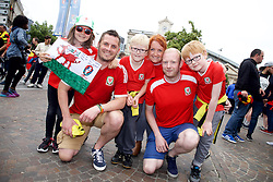 LILLE, FRANCE - Friday, July 1, 2016: Wales fans in the centre of Lille ahead of the UEFA Euro 2016 Championship Quarter-Final match against Belgium at the Stade Pierre Mauroy. (Pic by Paul Greenwood/Propaganda)