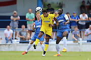AFC Wimbledon striker Lyle Taylor (33) during the Pre-Season Friendly match between Margate and AFC Wimbledon at Hartsdown Park, Margate, United Kingdom on 16 July 2016. Photo by Stuart Butcher.