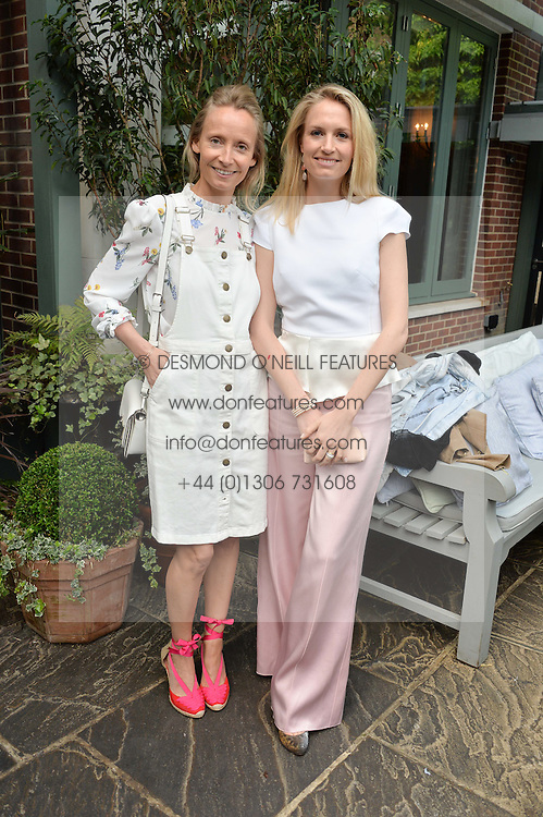 Left to right, MARTHA WARD and SOFIA BLUNT at a party to celebrate 'A Year In The Garden' celebrating the first year of The Ivy Chelsea Garden, 197 King's Road, London on 16th May 2016.