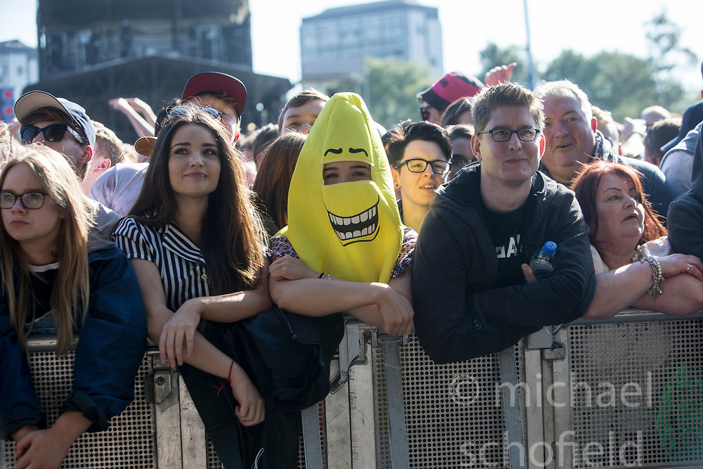 George Ezra plays the main stage. Saturday at TRNSMT music festival, Glasgow Green.